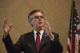 Lt. Gov. Dan Patrick gives a preview of the 85th legislative session at a Dallas Chamber of Commerce event on Oct. 20, 2016.