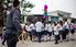 "Students take turns whacking at the piñatas that local police officers have brought to celebrate their on-going drug prevention educational programming at the Centro Escolar ""Caserio El Pital C/Entre Rios"" elementary school in Lourdes, El Salvador. The school and its students are the recipients of US Embassy-funded gang prevention educational programming."
