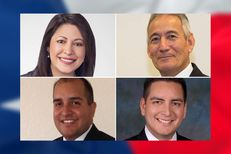 Democrat Mary Ann Perez is challenging state Rep. Gilbert Peña, R-Pasadena (top right), in House District 144; in another rematch, Democrat Philip Cortez (bottom left) is attempting to regain his seat from state Rep. Rick Galindo, R-San Antonio.