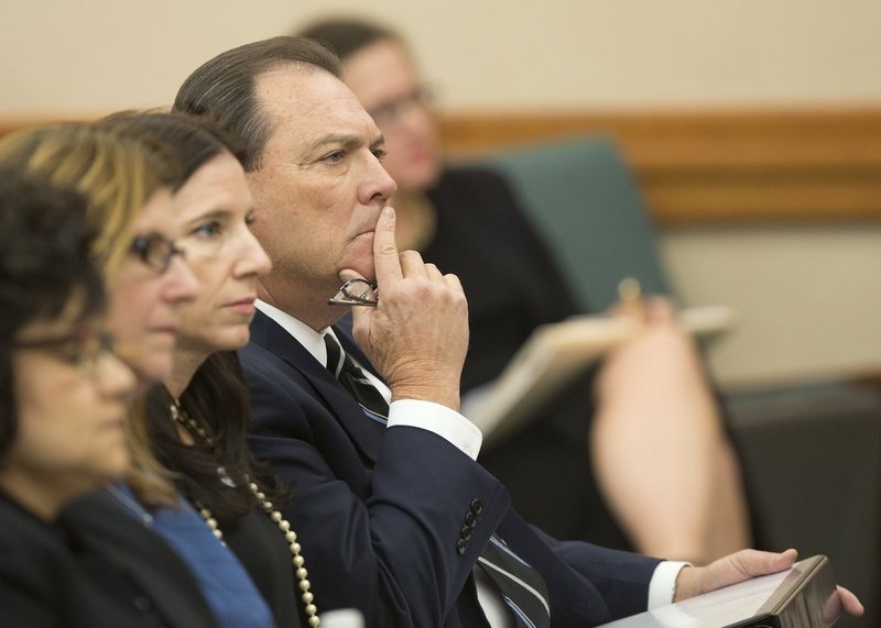 """Texas Department of Family and Protective Services Commissioner Henry """"Hank"""" Whitman waits to testify during a October 26, 2016 Senate Finance Committee hearing."""