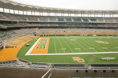 The inside of McLane Stadium at Baylor University
