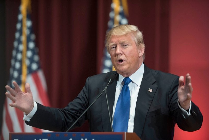 Then a candidate for president, Donald Trump rallied a crowd of veterans at Drake University in Des Moines, Iowa, on Jan. 28, 2016 — just ahead of that state's presidentialcaucuses.
