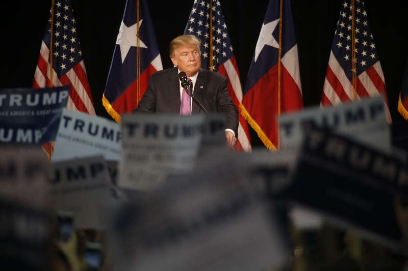 Donald Trump speaks at a campaign event in The Woodlands, Texas Friday June 17, 2016.