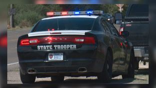 A DPS trooper spots a motorist along Highway 83 in Starr County.