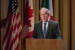 President George W. Bush speaks at the 2016 NASCO Continental Reunion at the George W. Bush Presidential Library in Dallas on Nov. 15, 2016.