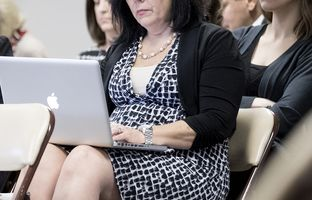 Cynthia Dunbar, publisher of a proposed Mexican-American studies textbook, listens to the State Board of Education on Tuesday, November 15, 2016. Elected officials, educators, and activists are calling the textbook racist. The advocacy group, Texas Freedom Network, along with educators, and activists are asking the State Board of Education to reject the Mexican American heritage textbook.