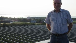 Lasse Kjærgaard Larsen manages district heating in Marstal, the biggest city on the Baltic Sea island of Aero. The utility's solar thermal farm — once the world's largest of its kind — meets 55 percent of this city's heating demands.