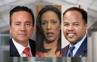 State Sen. Carlos Uresti, D-San Antonio, and state Reps. Dawnna Dukes, D-Austin, and Ron Reynolds, D-Missouri City.