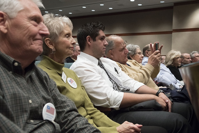 People interested in the convention of states process listened to Gov. Greg Abbott speak on Texans' role at the state Capitol on Dec. 6, 2016.