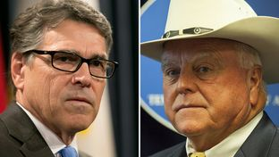 Former Gov. Rick Perry (l.) and Texas Agriculture Commissioner Sid Miller.