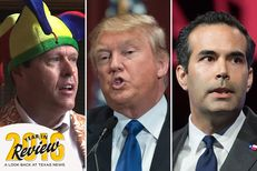 Former Travis County GOP Chairman Robert Morrow, President-elect Donald Trump and Texas Land Commissioner George P. Bush are the names behind some of The Texas Tribune's most-read stories in 2016.