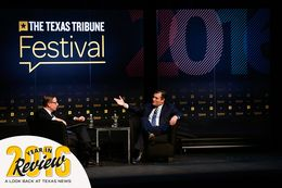 U.S. Sen. Ted Cruz, R-Texas, is interviewed by Texas Tribune CEO Evan Smith at The Texas Tribune Festival on Sept. 24, 2016.