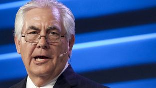 ExxonMobil Chairman and CEO Rex Tillerson speaks during the IHS CERAWeek 2015 energy conference in Houston on April 21, 2015.