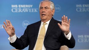 ExxonMobil Chairman and CEO Rex Tillerson speaks during the IHS CERAWeek 2015 energy conference in Houston,