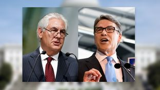 ExxonMobil Chairman and CEO Rex Tillerson and Former Texas Gov. Rick Perry.