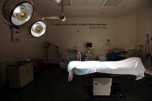 One of the surgery rooms at the Whole Woman's Health Surgical Center in San Antonio on March 18, 2013.