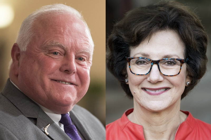 Texas Agriculture Commissioner Sid Miller, left, and former Texas Comptroller Susan Combs.
