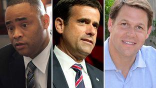 (L.-R.) U.S. Reps. Marc Veasey, D-Fort Worth, John Ratcliff, R-Heath and Jodey Arrington, R-Lubbock.