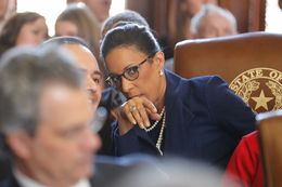 State Rep. Dawnna Dukes, D-Austin, on the House floor for opening day of the 85th Legislature on January 10, 2017.