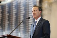 Rep. Joe Straus makes remarks after being being sworn in for his fifth term as speaker of the Texas House on Jan. 10, 2017.