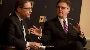 Lt. Gov. Dan Patrick (right) during a conversation with Texas Tribune CEO Evan Smith on Jan. 11, 2017.
