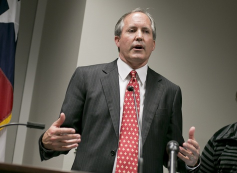 Texas AG Ken Paxton during a press conference to recognize January as Human Trafficking Awareness Month on January 12, 2017.