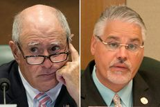 State Sen. Kel Seliger, R-Amarillo, and state Rep. Dan Huberty, R-Houston.