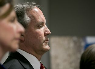 Texas Attorney General Ken Paxton during a news conference on Jan. 12, 2017.