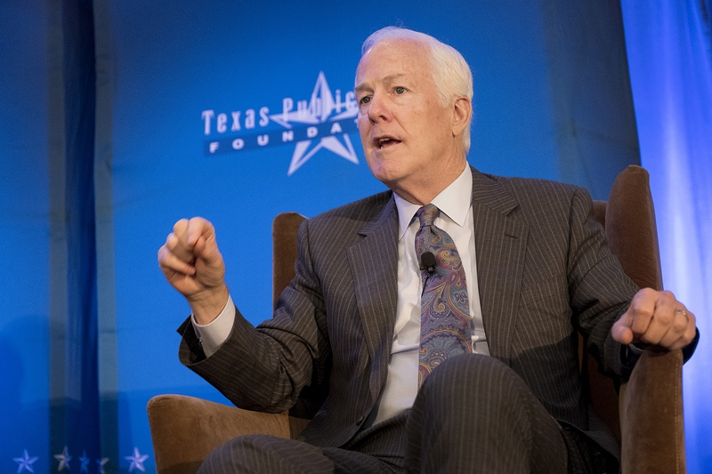 U.S. Sen. John Cornyn speaks at a conference hosted by the Texas Public Policy Foundation on Jan. 13, 2017, at the Sheraton Hotel in Austin, Texas.