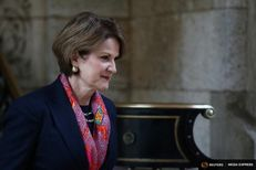 Lockheed Martin CEO Marillyn Hewson leaves after a meeting with U.S. President-elect Donald Trump at Mar-a-Lago estate in Palm Beach, Florida on December 21, 2016.