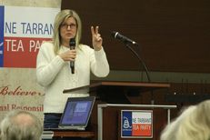 Northeast Tarrant Tea Party President Julie McCarty kicks off the political group's first monthly meeting of 2017 in at a community center in North Richland Hills. The organization is a powerhouse in Texas politics.