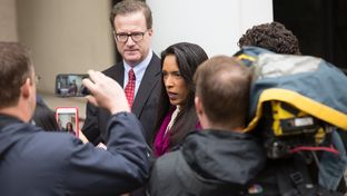 State Rep. Dawnna Dukes, D-Austin, outside the Travis County Blackwell-Thurman Criminal Justice Center before being arraigned on Jan. 18, 2017.