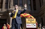Lt. Gov. Dan Patrick speaks during a rally at the Capitol for school choice January 24, 2017. Both Gov. Greg Abbott and Patrick spoke in favor of expanding school choice options. Students, educators, activists and parents marched on the south lawn to show their support for expanding school choice options during National School Choice Week.