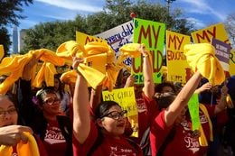 Children from charter and private schools all over Texas turned out for this legislative session's National School Choice Rally on January 24, 2017.