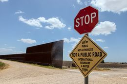 The Texas-Mexico border fence near Donna.