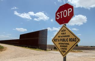 The Texas-Mexico border fence near Donna.