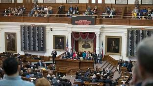 Gov. Abbott delivers his State of the State address in the House Chamber on Jan. 31, 2017.