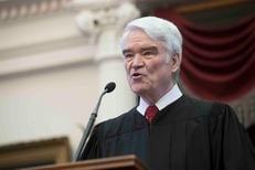 Texas Supreme Court Chief Justice Nathan Hecht delivered his State of the Judiciary Address in the state House chamber on Feb. 1, 2017.