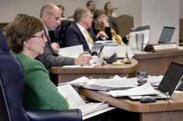 State Board of Education member Barbara Cargill attends a meeting of the board on Feb. 1, 2017 in Austin.