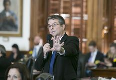 "State Sen. Charles Perry, R-Lubbock, answers questions regarding Senate Bill 4, better known as the anti-""sanctuary cities"" bill, on Feb. 7, 2017 in the state Capitol in Austin."