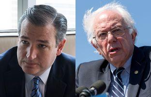 U.S. Sens. Ted Cruz, R-Texas (l.) and Bernie Sanders, I-Vermont.