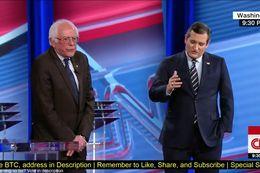 U.S. Sens. Bernie Sanders, I-Vermont, and Ted Cruz, R-Texas, debate the future of Obamacare on CNN on Feb. 7, 2017.