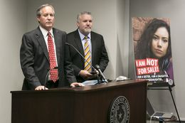 "Texas Attorney General Ken Paxton called sex trafficking ""one of the most heinous crimes facing our society"" at a recent press conference. Estimates suggest there are 79,000 child victims of sex trafficking in Texas."