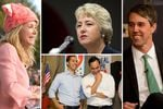 Clockwise from left: former state Sen. and gubernatorial candidate Wendy Davis, former Houston Mayor Annise Parker, U.S. Rep. Beto O'Rourke, D-El Paso, U.S. Rep. Joaquin Castro, D-San Antonio, (r.) and his twin brother, former Housing and Urban Development Secretary Julián Castro.