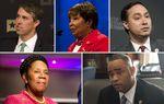 Clockwise from top left: U.S. Reps. Beto O'Rourke, D-El Paso, Eddie Bernice Johnson, D-Dallas, Joaquin Castro, D-San Antonio, Marc Veasey, D-Fort Worth and Sheila Jackson-Lee, D-Houston.