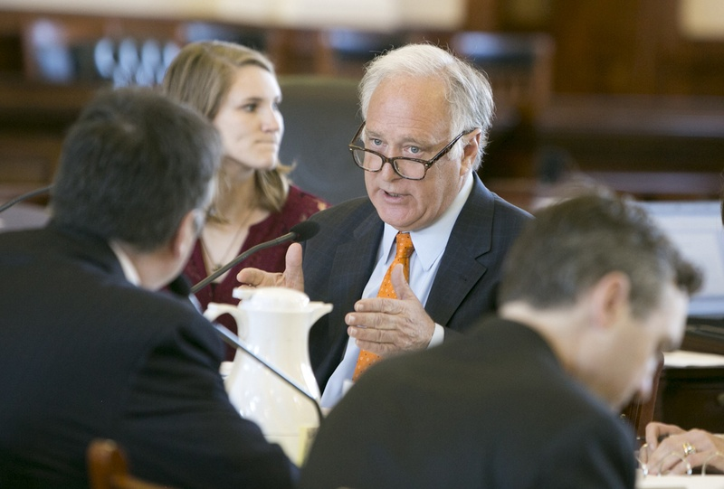 Sen. Kirk Watson D-Austin during a February 15, 2017 Senate Committee on Health and Human Services
