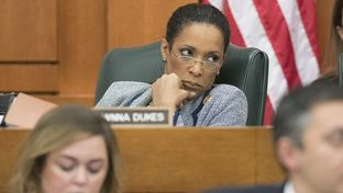 State Rep. Dawnna Dukes, D-Austin at a House Appropriations Committee hearing on Feb. 15, 2015.