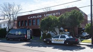 Law enforcement officers from the FBI and the Internal Revenue Service raid the San Antonio office of state Sen. Carlos Uresti, D-San Antonio, on Feb. 16, 2017.