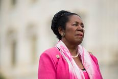 Rep. Sheila Jackson Lee, D-Texas, speaks during the news conference at the Capitol with other members of the Heroin Task Force on combating heroin abuse on  April 21, 2016.