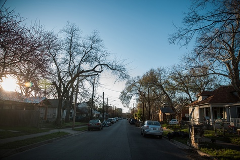 Homes on Garden Street in Austin on Feb. 24, 2017.
